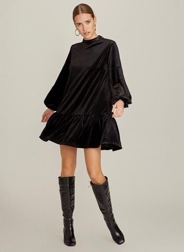 NGSTYLE Kadife Elbise Siyah